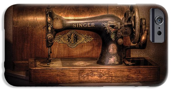 Savad iPhone Cases - Sewing Machine  - Singer  iPhone Case by Mike Savad
