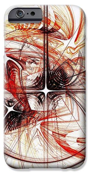 Geometric iPhone Cases - Shapes and Symbols iPhone Case by Anastasiya Malakhova