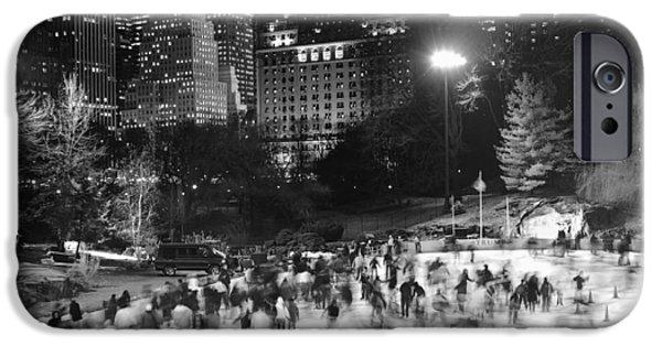 New York City - Skating Rink - Monochrome IPhone 6 Case