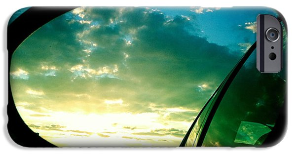 Sky iPhone 6 Case - Sky In The Rear Mirror by Matthias Hauser