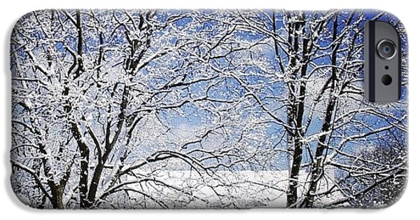 #snow #winter #house #home #trees #tree IPhone 6 Case