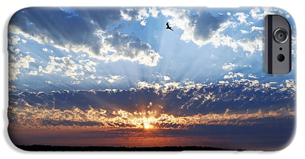 IPhone 6 Case featuring the photograph Soaring Sunset by Anthony Baatz