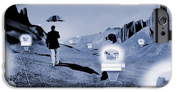 Umbrella iPhone Cases - Sos iPhone Case by Mike McGlothlen