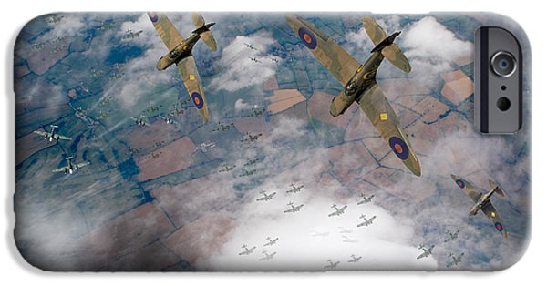 Raf Spitfires Swoop On Heinkels In Battle Of Britain IPhone 6 Case by Gary Eason