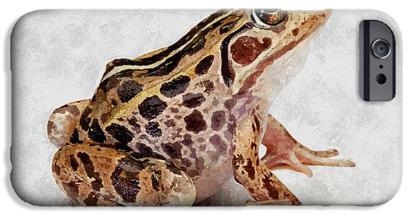 Spring Peepers Paintings iPhone Cases - Spotted dart frog iPhone Case by Lanjee Chee