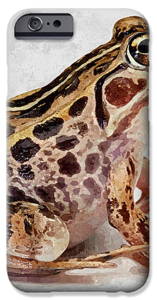 Spotted dart frog iPhone Case by Lanjee Chee