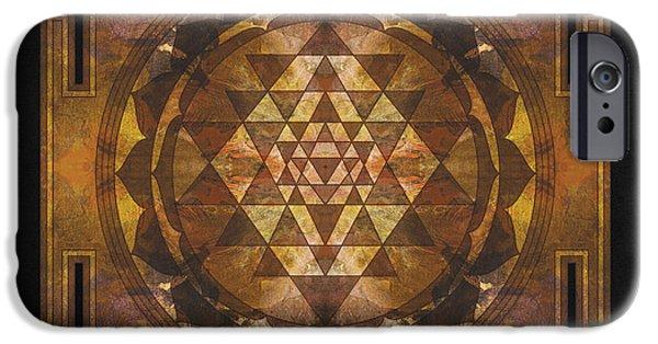 Buddhism iPhone 6 Case - Sri Yantra Gold by Filippo B