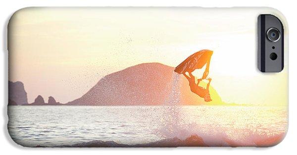 Jet Ski iPhone 6 Case - Stand Up Jet Ski Backflip At Sunset by Marcos Ferro