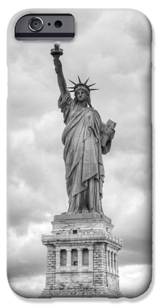 IPhone 6 Case featuring the photograph Statue Of Liberty Full by Dave Beckerman