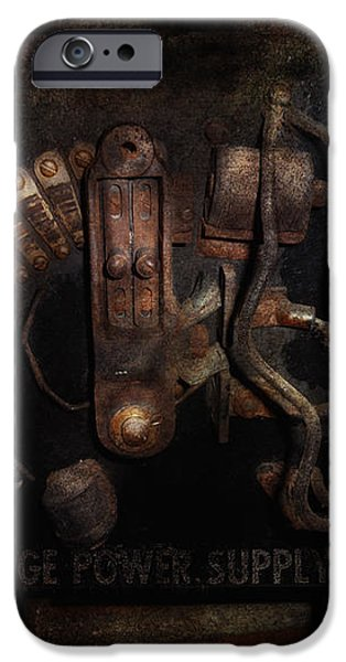 Steampunk - Electrical - Rotary Switch iPhone Case by Mike Savad