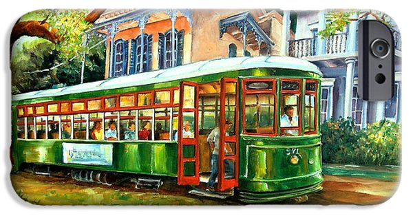Figurative iPhone 6 Case - Streetcar On St.charles Avenue by Diane Millsap