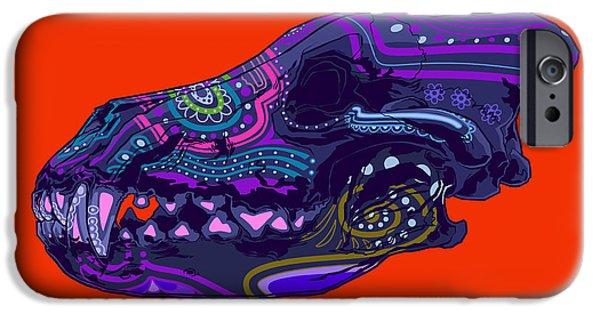 Folk Art iPhone 6 Case - Sugar Wolf by Nelson Dedos Garcia