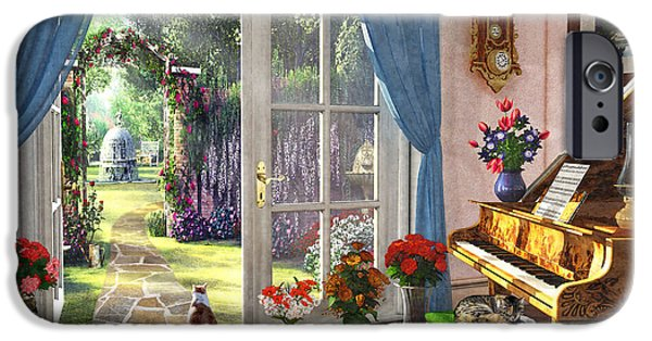 IPhone 6 Case featuring the painting Summer Garden View by Dominic Davison