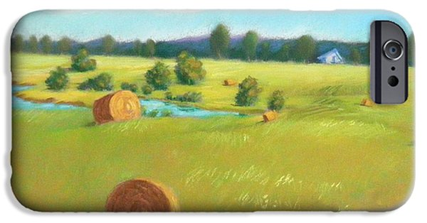Haybale Pastels iPhone Cases - Summer Meadow iPhone Case by Celine  K Yong