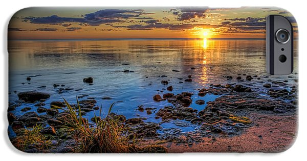 Lake iPhone 6 Case - Sunrise Over Lake Michigan by Scott Norris