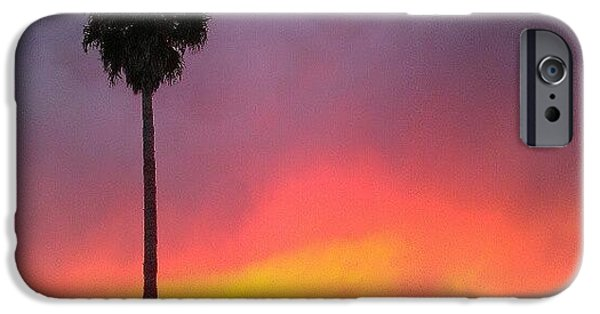 Orange iPhone 6 Case - Sunset California by CML Brown