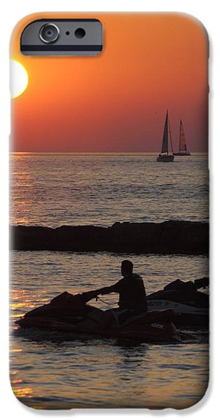Jet Ski iPhone 6 Case - Sunset Silhouette by Frozen in Time Fine Art Photography