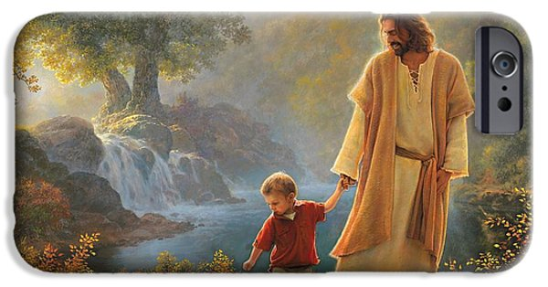 Red iPhone 6 Case - Take My Hand by Greg Olsen