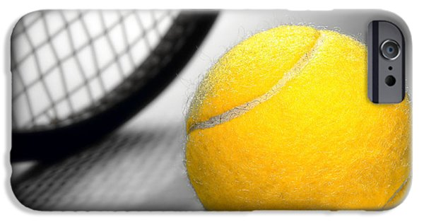 Tennis iPhone Cases - Tennis iPhone Case by Olivier Le Queinec