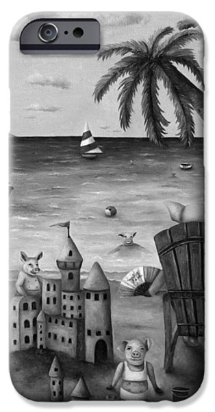 Jet Ski iPhone 6 Case - The Bacon Shortage In Bw by Leah Saulnier The Painting Maniac