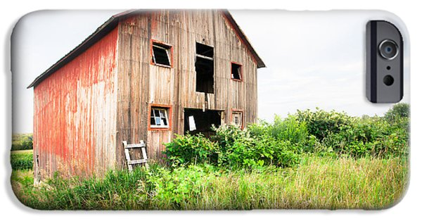 Old Barns iPhone Cases - The little Red Shack on Tucker Road - Old barns and things iPhone Case by Gary Heller