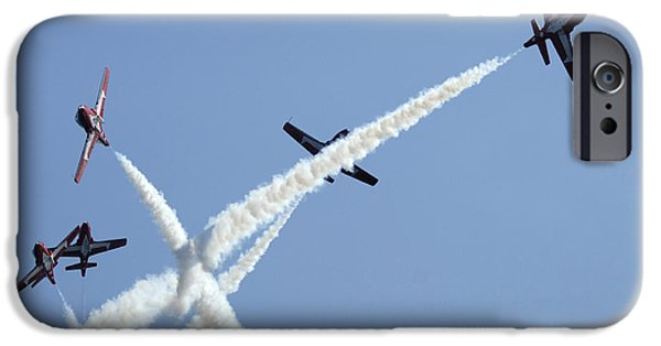 Snowbird iPhone Cases - The Snowbirds At High Speed iPhone Case by Bob Christopher
