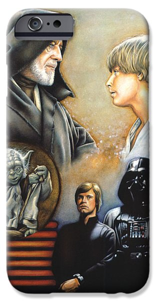 Star iPhone 6 Case - The Way Of The Force by Edward Draganski