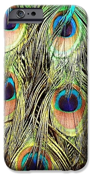 Colorful iPhone 6 Case - Peacock Feathers by Blenda Studio