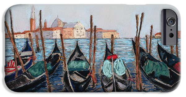 History Pastels iPhone Cases - Tied Up in Venice iPhone Case by Mary Benke
