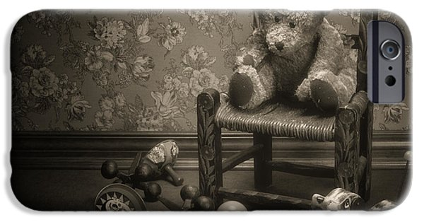 Punishment iPhone Cases - Time Out - a teddy bear still life iPhone Case by Tom Mc Nemar
