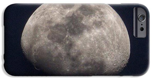 Tonight's Gibbous Moon #moon #night IPhone 6 Case