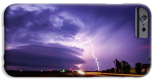 Nebraskasc iPhone 6 Case - Tornado Warning In Northern Buffalo County by NebraskaSC