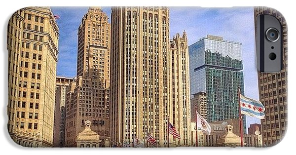 City iPhone 6 Case - Tribune Tower And Dusable Bridge In by Paul Velgos