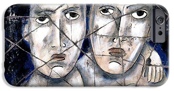 Bogdanoff iPhone 6 Case - Two Souls - Study No. 1 by Steve Bogdanoff