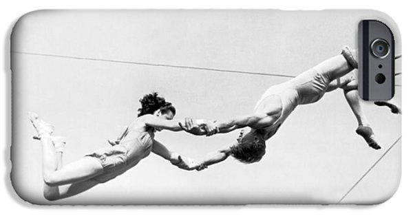 Barnum And Bailey iPhone 6 Case - Two Trapeze Artists by Underwood Archives
