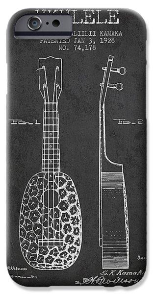 Ukulele Patent Drawing From 1928 - Dark IPhone 6 Case