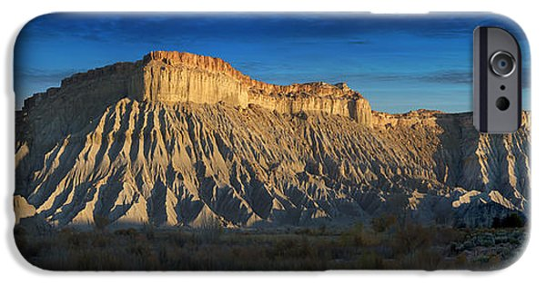 Sunset Scenes. iPhone Cases - Utah Outback 40 Panoramic iPhone Case by Mike McGlothlen