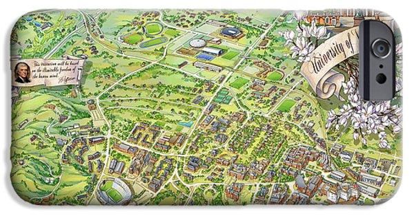 Campus Map Iphone 6 Cases Fine Art America