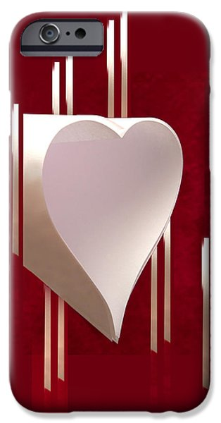 Valentine Paper Heart IPhone 6 Case by Gary Eason