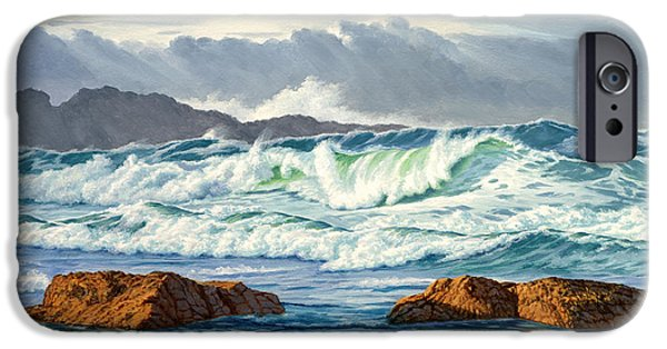 Pacific Ocean iPhone 6 Case - Vancouver Island Surf by Paul Krapf