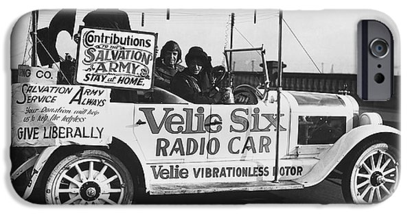 Donation iPhone 6 Case - Velie Six Radio Car by Underwood & Underwood