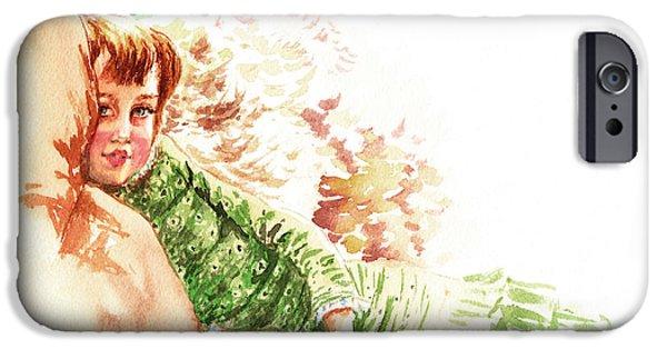 IPhone 6 Case featuring the painting Vintage Study Lilian Of James Tissot by Irina Sztukowski