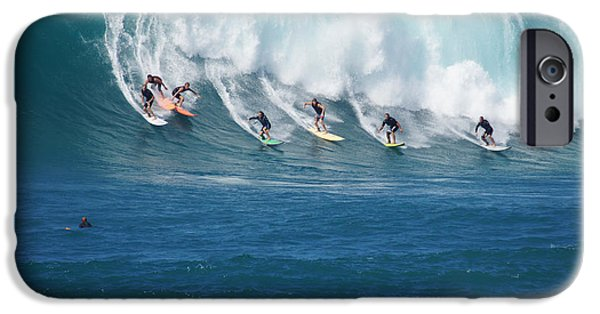 Jet Ski iPhone 6 Case - Waimea Bay Crowd by Kevin Smith
