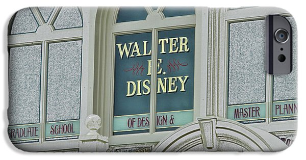 Casey Digital iPhone Cases - Walter E Disney Window Signage Digital Art iPhone Case by Thomas Woolworth