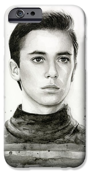 Star iPhone 6 Case - Wesley Crusher Star Trek Fan Art by Olga Shvartsur
