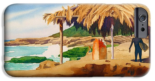 Surfer iPhone Cases - Wind n Sea Beach La Jolla iPhone Case by Mary Helmreich