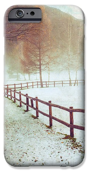 Winter Tree With Fence IPhone 6 Case by Silvia Ganora