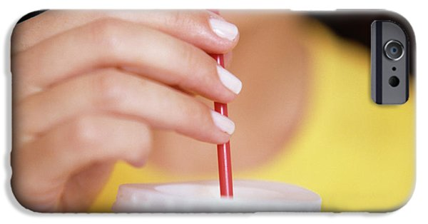 Smoothie iPhone 6 Case - Woman Drinking Fruit Juice by Cristina Pedrazzini/science Photo Library
