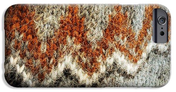 Woolen Jersey Detail Grey And Orange IPhone 6 Case by Matthias Hauser