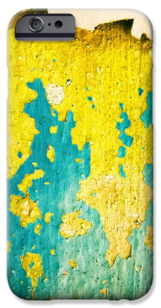 IPhone 6 Case featuring the photograph Yellow And Green Abstract Wall by Silvia Ganora